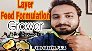 Layer Grower Feed Formulation || Poultry ki batein 🐓🐓Session#11