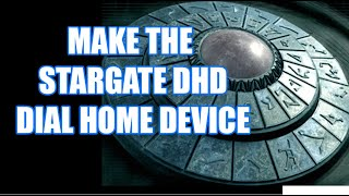 The Dial Home Device--DHD  The Stargate Dial Life-sized Reproduction!!