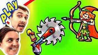 БолтушкА и ПРоХоДиМеЦ проверяют Чей ОТРЯД КРУЧЕ! #293 Игра для Детей - Tower Conquest