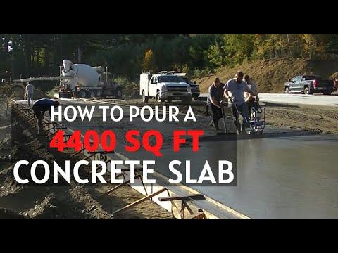 Pouring A 4400 Sq Ft Concrete Slab (For A Storage Building)