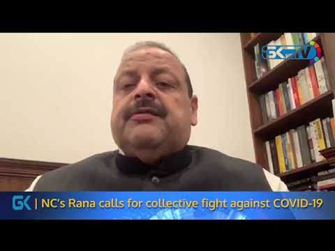NC's Rana calls for collective fight against COVID-19