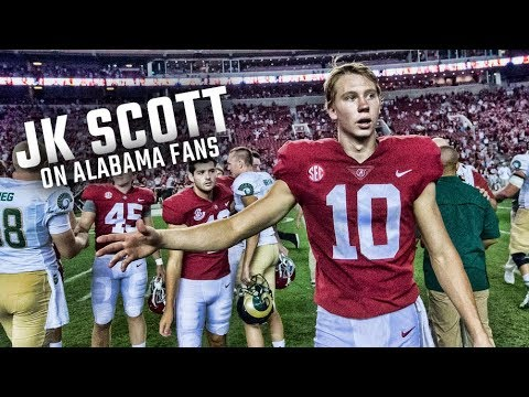 Alabama's JK Scott on the ups and downs of fan support
