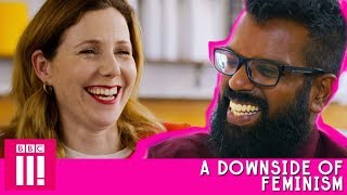 A Downside Of Feminism   Romesh Talks to Sally Phillips About Her Early Acting Career