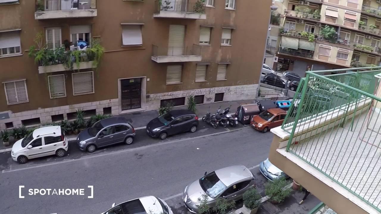 Spacious rooms for rent in 3-bedroom apartment in Tiburtina