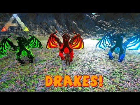 Badass Drakes | ARK Mod | Ice Poison Fire Drake VS Dragon | ARK Survival  Evolved - Anthomnia