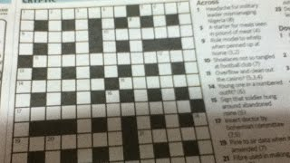 How To Solve Cryptic Crosswords - Tip 5: Reversal Clues - Includes Examples - Tutorial