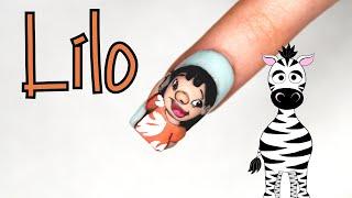 3D Lilo Acrylic Nail Art Tutorial | Disney Lilo And Stitch | MelodyMinutes