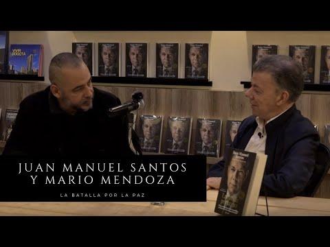 Juan Manuel Santos y Mario Mendoza hablan sobre la paz en Colombia