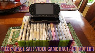 FREE GARAGE SALE VIDEO GAME HAUL AND MORE!!!!