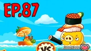 Angry Birds Fight! - MONSTER SUSHI PIG RAID - RARE SUSHI NECKLACE (SS CHUCK) - EP87
