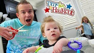 Baby's First Haircut!! Preston's Hair Gets Chopped!!!
