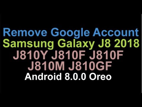 Remove FRP Lock Samsung Galaxy J8 2018 J810F J810Y J810M J810G