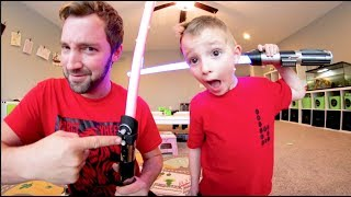 DAD GIVES SON A STAR WARS QUIZ!