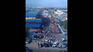 preview picture of video 'Алматы Пожар в Торговом Центре CarCity.'