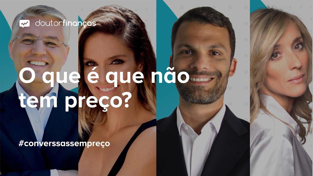 montagem com os convidados do Conversas sem Preço - Pedro Andersson, Diana Chaves, Miguel Moreira Rato e Margarida Rebelo Pinto