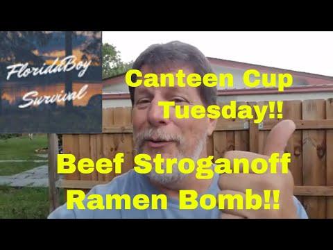 Canteen Cup Tuesday – Beef Stroganoff Ramen Bomb!!!
