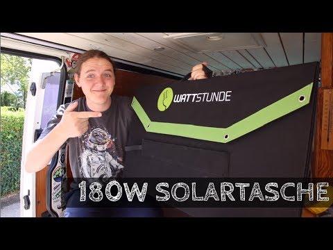 180W SOLARTASCHE von Wattstunde   Solarkoffer   Faltmodul