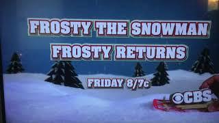 CBS Frosty/Rudolph 2017 TV Promo
