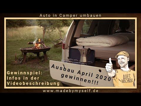 Mini Camper Auto Ausbau Camper umbauen (5 Minuten!!!) Renault Scenic Car Camper Conversion Wohnmobil