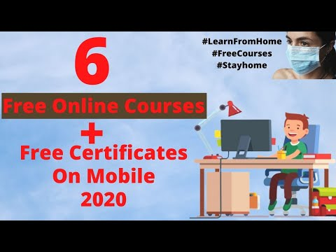 6 Free Online Courses + Free Certification Courses 2020 on Mobile ...