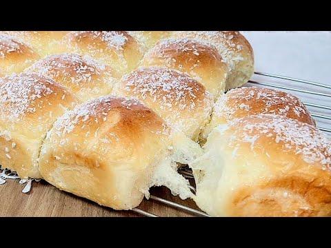 Pão doce fácil com coco