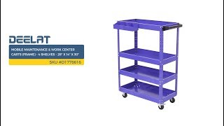 Mobile Maintenance & Work Center Carts (Frame) - 4 Shelves - 28