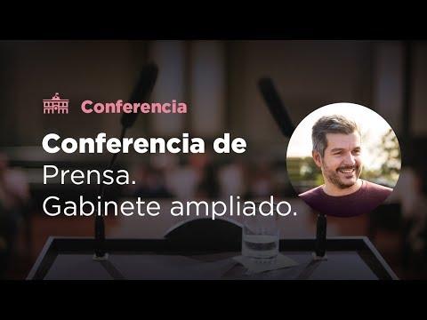 Conferencia de prensa al término de la reunión de gabinete ampliado en el CCK