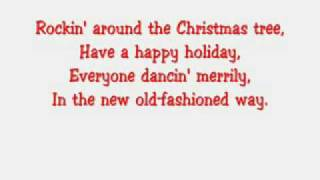 Hannah Montana-Rockin Around The Christmas Tree With Lyrics