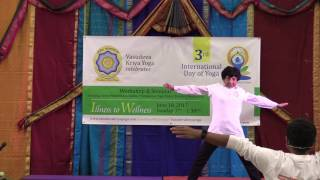 Nergish - 80 year old Yogini at IDY3