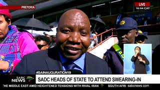 #INAUGURATION19 I Presidents Mnangagwa, Masisi arrive