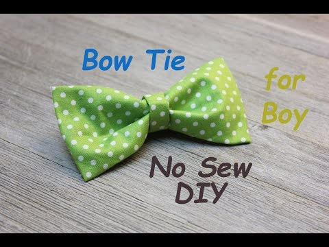 No Sew DIY Boy's BowTie Easy Tutorial