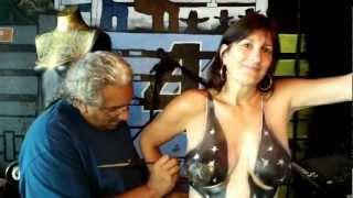 Fantasy Fest Body Painting @ The X Radio at Cowboy Bills Key West