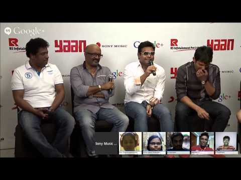 #YaanHangout with Harris Jayaraj, Jiiva, Ravi.K.Chandran & Elred