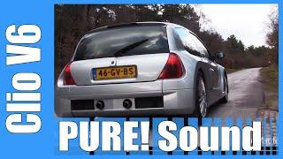 Renault Sport Clio 3.0 V6 PURE! Acceleration Sound