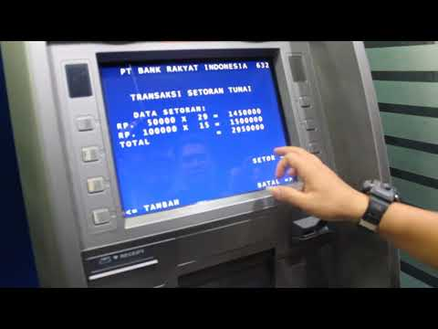 Cara Setor tunai di ATM BRI