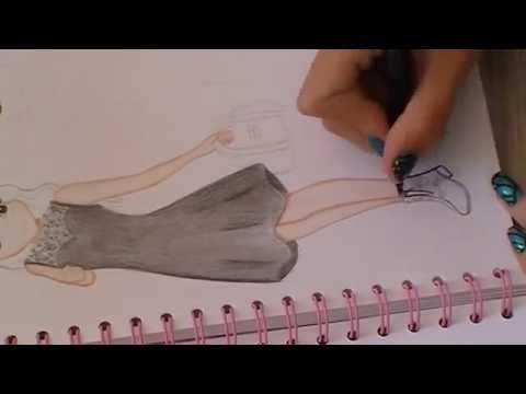 Dessin top model ma tenue de rentr e - Apprendre a dessiner violetta ...