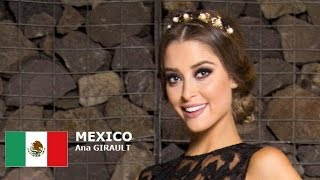 Ana Girault Contestant from Mexico for Miss World 2016 Introduction