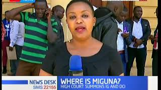 Miguna Miguna is set to appear at the Milimani Law Courts in the afternoon