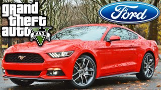 GTA 5 Ford Mustang 2015 - MOD CARRO