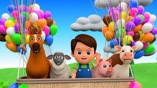Learn Farm Animals On Giant Balloons For Kids - Animals Feeding   Baa Baa Black Sheep Nursery Rhymes