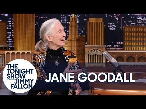Dr. Jane Goodall Teaches Jimmy About Pant-Hoots and Roots & Shoots