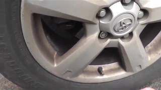 Шум от колеса увеличивается , если давление в нем падает.