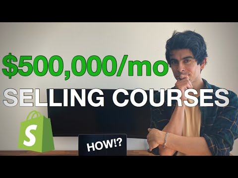 This Shopify Store Makes $500k Per Month Selling COURSES