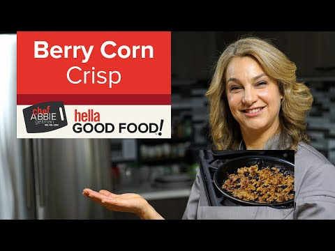 Healthy Blueberry Crisp with Corn