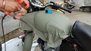 Royal Enfield Classic 350 Vinyl Wrapping Khaki Green | Bullet Modification | Vwraps Sikar