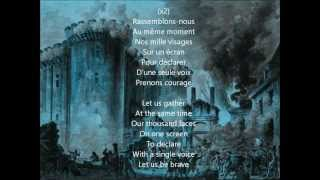 "Christopher Tin- ""Rassemblons-nous"" with lyrics"