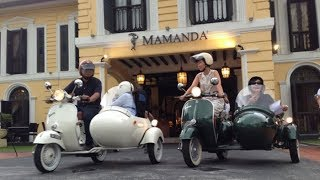 Serunya Keliling Kawasan Kampung Glam Singapura Naik Vespa Roda Tiga