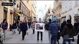 Peaceful protest about Azeri Hostages in Vienna, Austria
