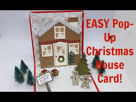 VERY EASY Pop-Up House Card!! (NO DIES REQUIRED!)