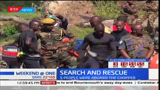 Part of the chopper that crashed into Lake Nakuru recovered by divers